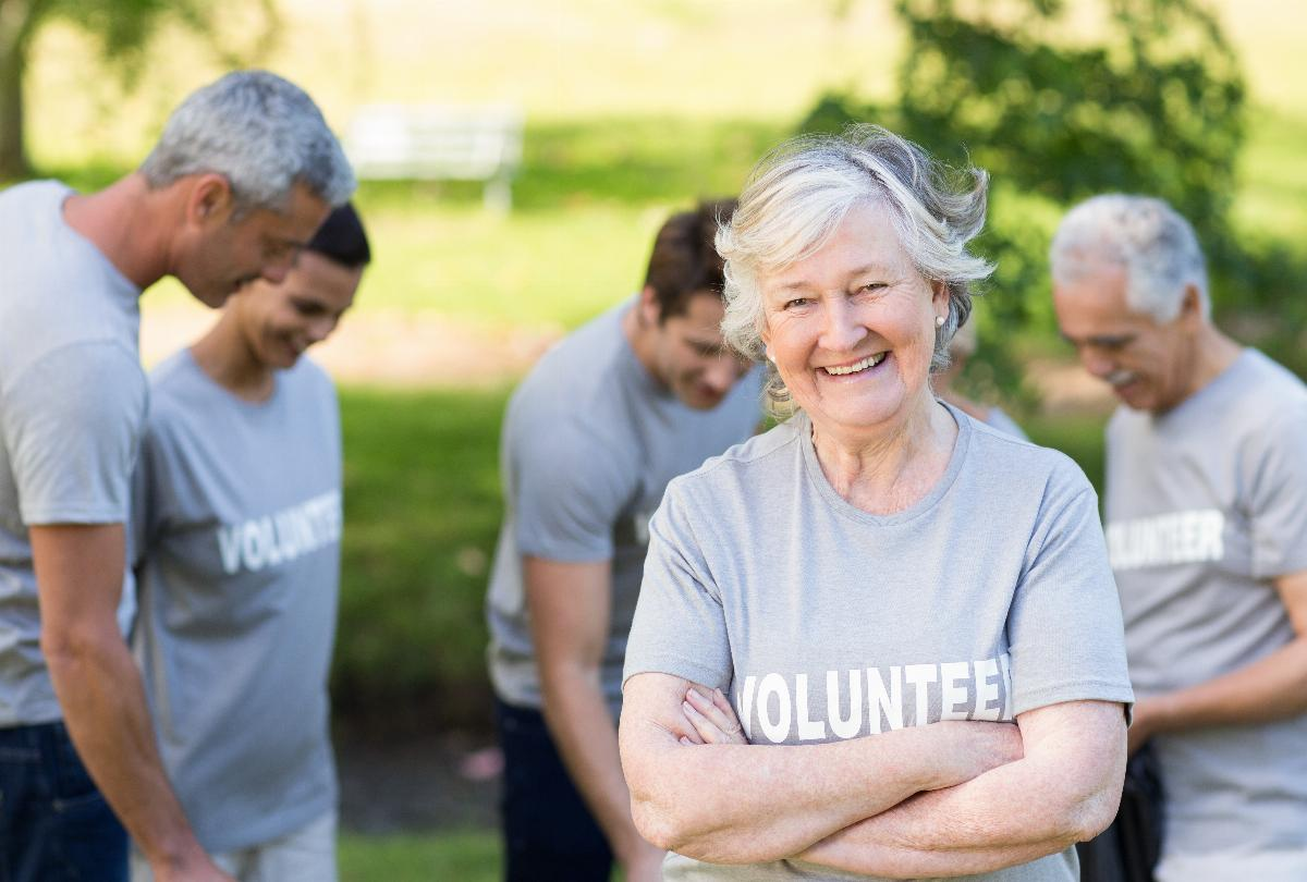 banner of Volunteering Options for Seniors