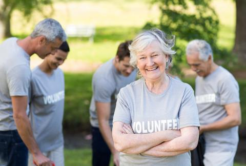 square of Volunteering Options for Seniors