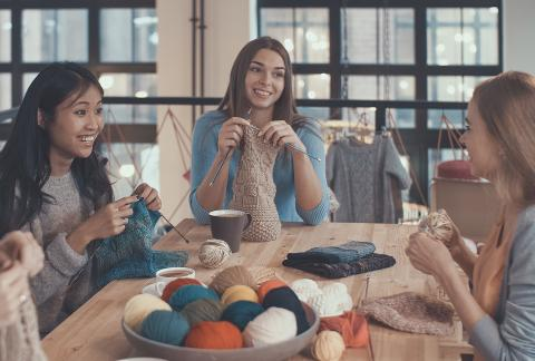 square of Knitting Has Made a Comeback as a Trendy Hobby
