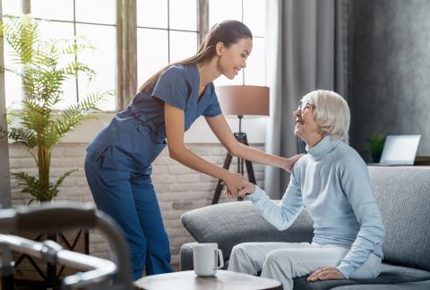 square of At Home Care Can Make Life More Comfortable