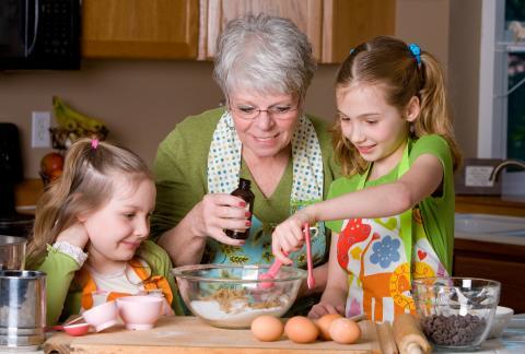 square of Quick & Easy Recipes for Grandkids