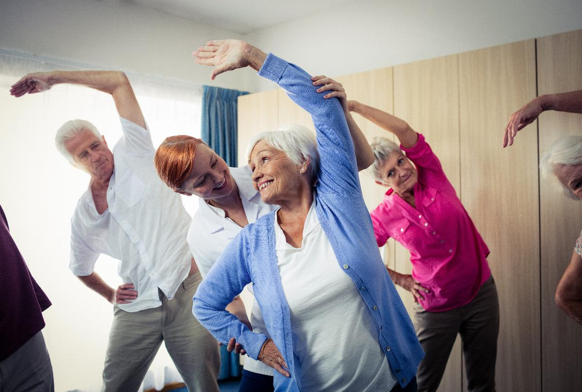 banner of Group Exercise Classes are Social & Healthy