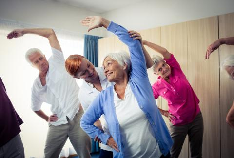 square of Group Exercise Classes are Social & Healthy