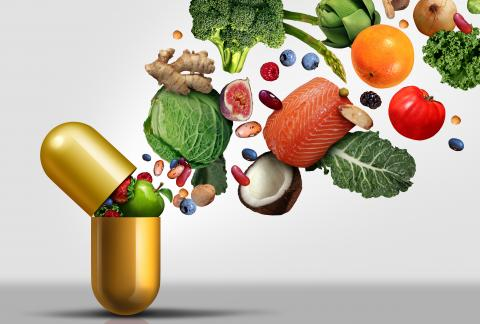 square of Supplements and Vitamins for Seniors